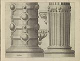 Twee 'columnae caelatae' en twee consoles