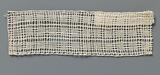 Bobbin lace insert with three rows of squares