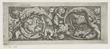 Frisian with arabesques and four putti