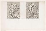 Acanthus motifs in bud form