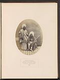 Portrait of Khair Mahomed, the head of a Baloch tribe, and a servant