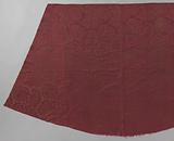 Large fragment of red silk damask