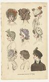 Magazine of Female Fashions of London and Paris, No 20: London Head Dresses, Oct. 1799.