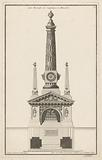 Catafalk with obelisks