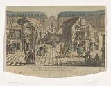 View of the Place Vendôme in Paris with the Saint-Ovide Fair