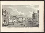 View of the Grand Canal and Palazzo Flangini in Venice