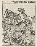 John the Evangelist in a pan with boiling oil