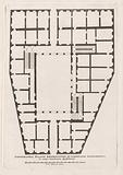 Floor plan of Palazzo Valentini in Rome