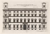 Façade of the Palazzo Sora in Rome