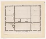 Floor plan of the attic of the Palazzo Carrega-Cataldi in Genoa