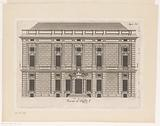 Floor plan of the first floor of the Palazzo Rostan Raggio in Genoa