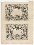 Cartouches with birds and putti