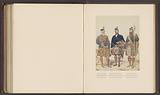 Photo reproduction of a drawing of portraits of Donald Munro, Archibald Macdougall and Lachlan Maclean