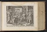Solomon receives the queen of Sheba