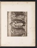 Photo reproduction of a print of a painting, depicting Saint Bartholomew, Agnes and Cecilia