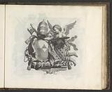 Angel with two coats of arms