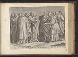 Christ in debate with the Pharisees about the tax on the emperor