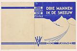 Bandontwerp voor: Erich Kästner, Drie mannen in de sneeuw (three men in the snow), c 1935–1939.