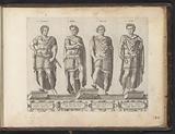 Roman emperors Claudius I, Nero, Galba and Otho