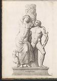 Sculpture of Bacchus, with satyr and panther