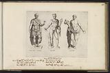 Sculptures of Julius Caesar, Mercury and a priest with a cornucopia