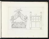 Four poster bed with eagle and a closet