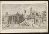 Ruin of the Temple of Antoninus and Faustina and the Temple of Romulus on the Roman Forum