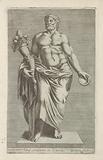 Sculpture of a man with a cornucopia