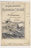 Band design for: PJ Andriessen, De Hollandsche Robinson Crusoë, 1895.