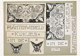 Band design and illustrations for: Emilie C Knappert, A look into the plant world, 1893.
