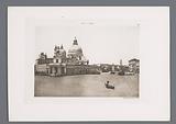 View over the Grand Canal with Punta della Dogana and the Santa Maria della Salute in Venice