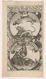 Menacing lion / River god with jar and cornucopia