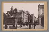 View of the Noordeinde in The Hague with the equestrian statue of Prince William of Orange