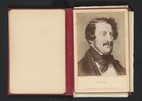 Photo reproduction of a portrait of Gaetano Donizetti by Eugen Felix