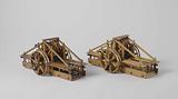 Two Models of a Lifesaving Cart for Shipwrecks