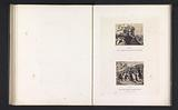 Photo reproductions from prints to frescoes depicting Moses receiving the Ten Commandments and beholding the golden …