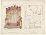 Four poster bed with drapes