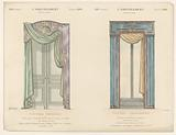 Door and window with curtains