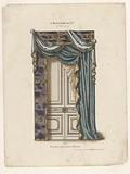 Door with curtains