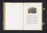 Photo reproduction of a print after a fresco by Joshua that stops the sun and moon by Raphael in front of the loggias …