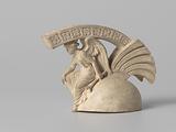 Helmet-shaped lid of a Greek warrior