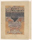 Design for a title page for: Under the Dutch flag, 1899.