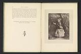Photo reproduction of a print after a painting by Dolly Varden by Wiliam Powell Frith