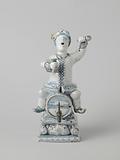 Spirit keg in the shape of a Dutchman sitting astride a barrel