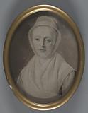 Framed oval portrait photo of Hendrica van der Hoeven