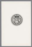 Ex libris from the Koninklijke Bibliotheek
