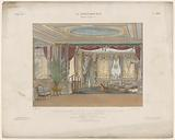 Theater salon with curtains