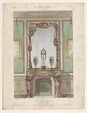Fireplace with drapes