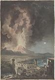 Eruption of Mt Vesuvius, Seen from the Ponte della Maddalena in Naples