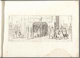 Title print: party shop with masks and wigs.